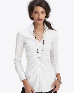 Long Button-Back Shirt