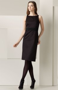 Burberry Braided Waist Sateen Dress