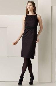 Burberry Braided Waist Sateen Dress