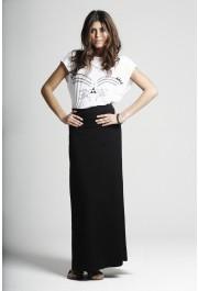 Bandage Waistband Jersey Maxi Skirt